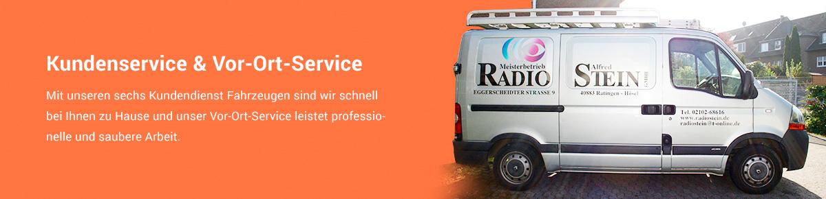 Service-Fahrzeug von Radiostein